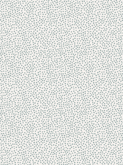 Lewis & Irene 'Winter in Bluebell Wood' Grey Dots on Cream