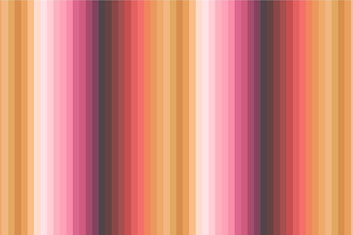 Rainbows - Rainbow ochre stripes (digital print)