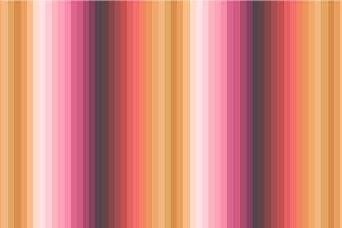 Rainbows - Rainbow ochre stripes (digital print)