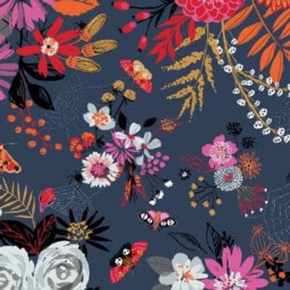 'Full Moon' by Helen Black Florals with moths