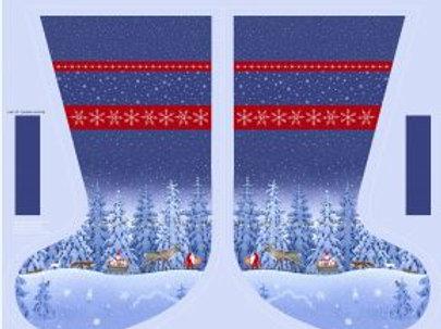 "Lewis & Irene  - Tomten's Christmas - Stocking Panel 36"" x 44"""