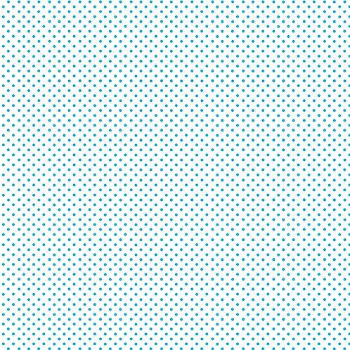 Makower 'Beside the Sea' Turquoise Spot on White