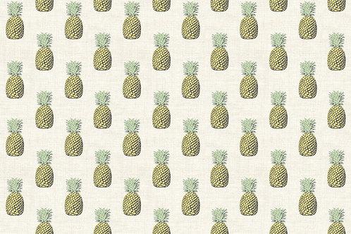 Makower 'Fern Garden' Pineapples on Cream