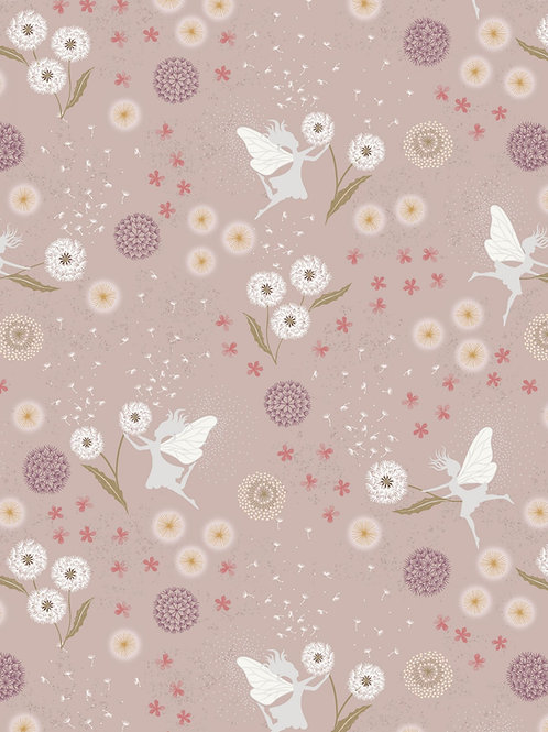 Fairy Clocks - Fairy clocks on warm linen with silver metallics