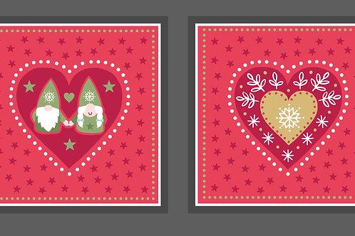 'Hygge' Christmas Cushion panel - Slate
