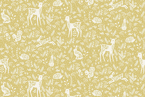 Makower 'Clara's Garden' Animals on yellow