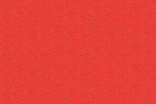 Makower 'Modern Metallic' Dotty Red