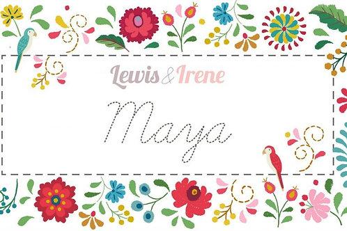 Lewis & Irene - 'Maya' Scrumptious Squares