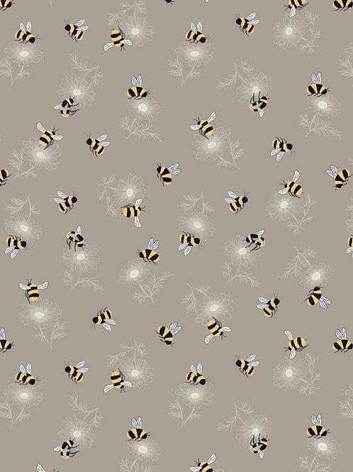 Lewis & Irene  - Botanic Garden - Bumblebee on latte