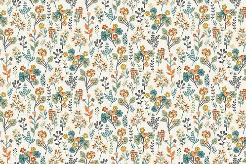 Makower 'Clara's Garden' Plants on Cream