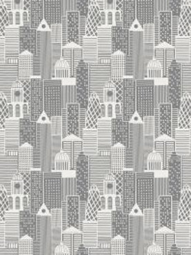 Lewis and Irene -  City Buildings on Silver