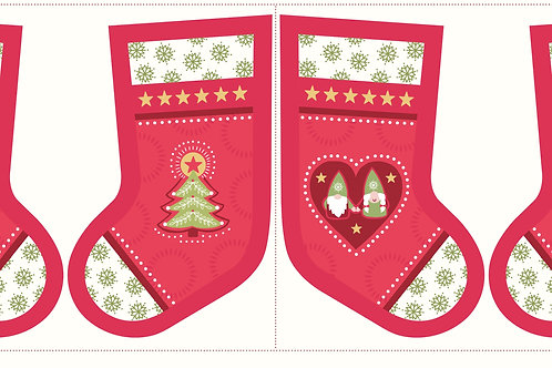 Hygge Christmas Stocking - Red