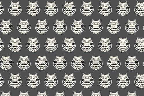 Makower 'Papillon' Owls on dark grey