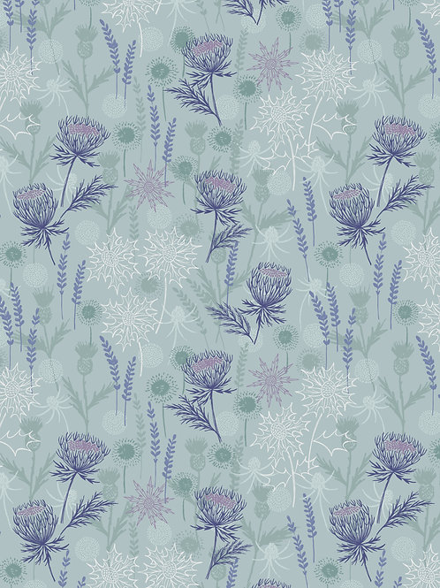 Lewis & Irene  - 'Iona' Light Blue Thistle with silver