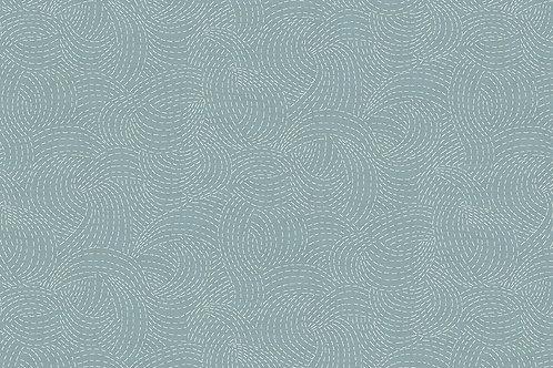 Makower 'Indigo' Sashiko Light Blue