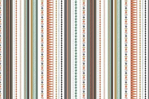 Makower 'Modern Metallic' Stripe Soft Grey