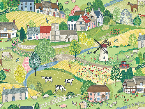 Makower 'Village Life' Scenic