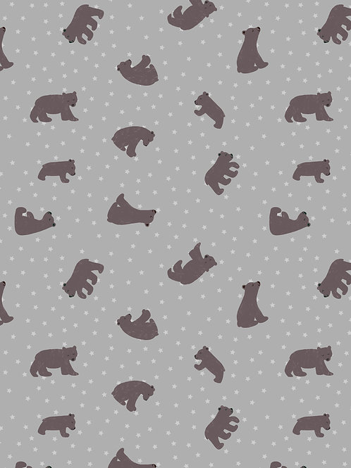 Lewis & Irene  - 'Bear Hug' Starry Bears Grey