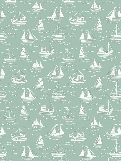Thalassophile - Boats on Sea Green