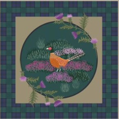 Lewis & Irene - Celtic Coorie - Pheasant on Green Check