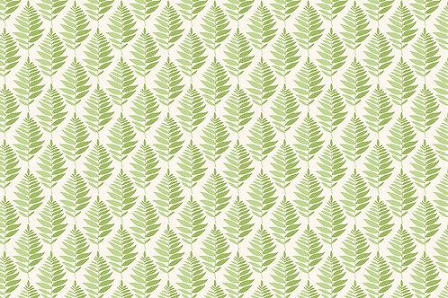 Makower 'Fern Garden' Geo Leaf Green