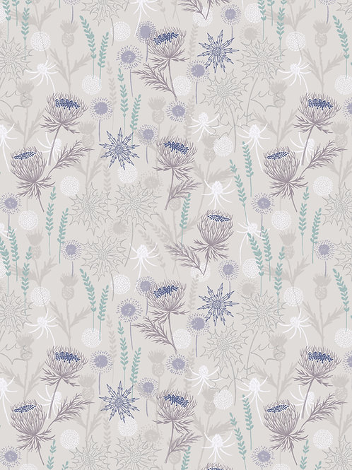 Lewis & Irene  - 'Iona' Light Grey Thistle with silver