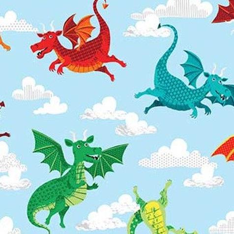 Makower 'Dragonheart' - Dragons on Blue