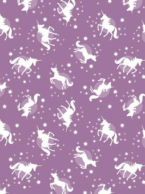 Lewis & Irene  - Fairy Nights Unicorn spots on soft Blackberry