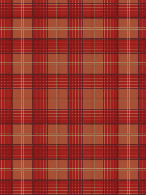 Lewis & Irene - Celtic Coorie - Red Orange check
