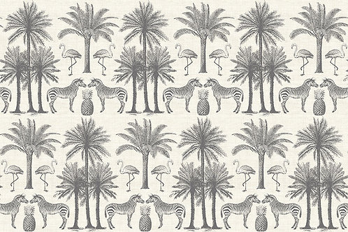 Makower 'Fern Garden' Palms Grey