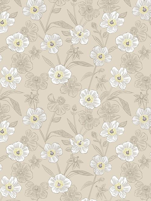 Lewis & Irene  - Botanic Garden - Rambling floral on dark cream