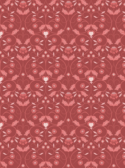 Lewis & Irene  - Michaelmas - Red Mono Floral