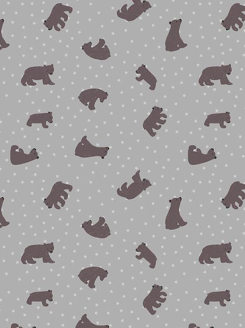 Cotton mix Jersey 'Bear Hug' on Grey