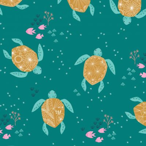 Dashwood Studio 'Into the Blue' Turtles on Aqua