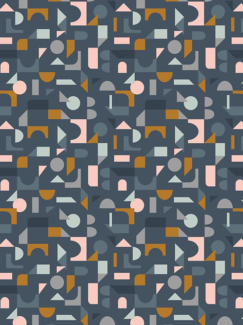 Lewis & Irene - Forme Scattered Geometric on Navy