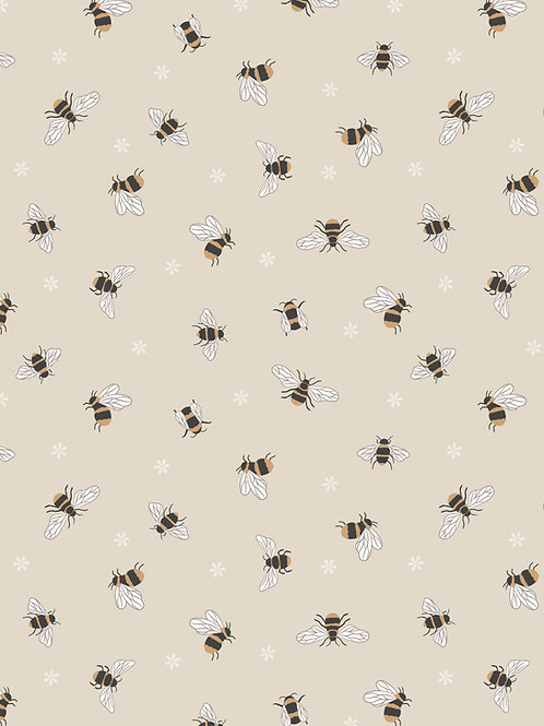 Queen Bee - Bees on Dark Cream