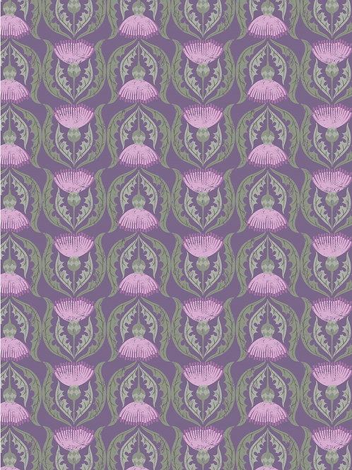 Lewis and Irene - Thistles on Purple