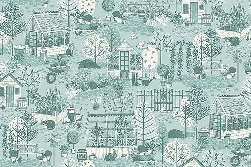Makower 'Clara's Garden' Scenic Blue