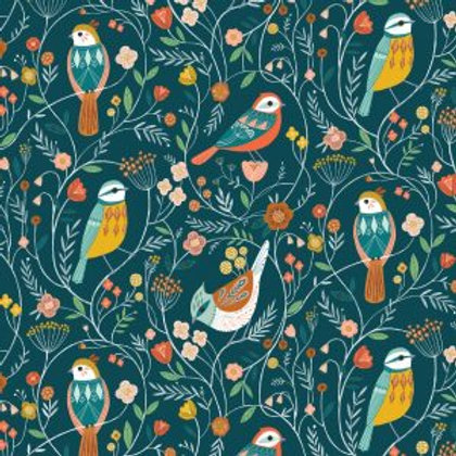 Dashwood Studio 'Aviary' Birds on Blue