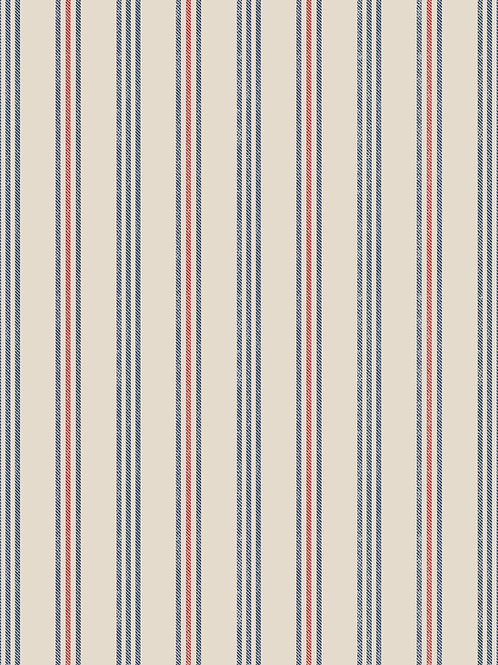 Thalassophile - Coastal Stripe on Dark Cream