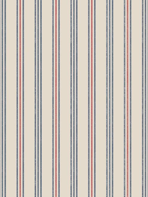 Thalassophile - Coastal Stripe on Dark Cream