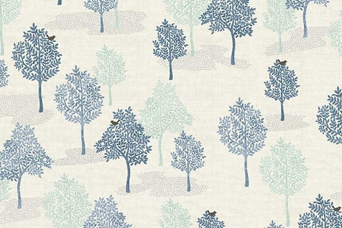 Makower 'Woodland' - Trees Blue