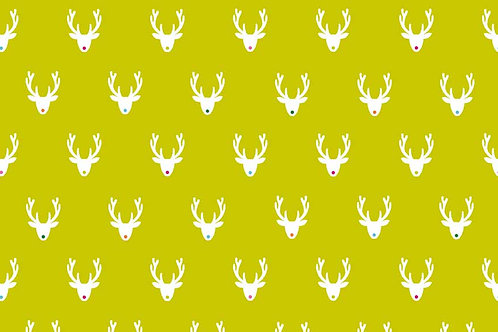 Makower 'Joyeux' Reindeer on Green