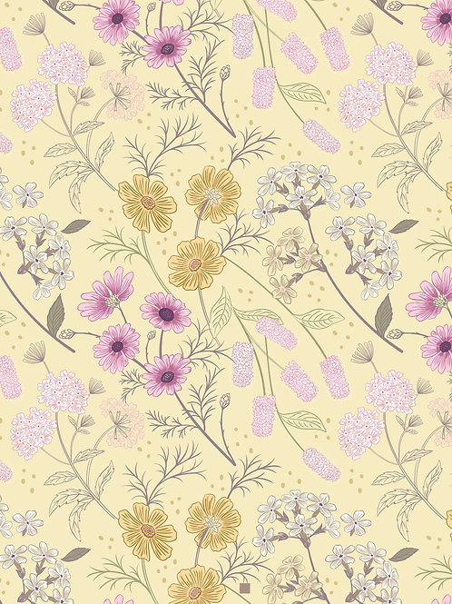 Lewis & Irene  - Botanic Garden - Garden Floral on pale Yellow