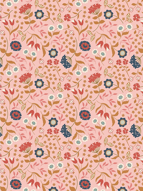 Lewis and Irene - 'Chieveley' Country House floral on Pink
