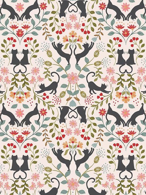 Lewis & Irene - Purrfect Petals - Love Cats on Cream