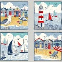 Makower 'Sail Away' panel (REMNANT)