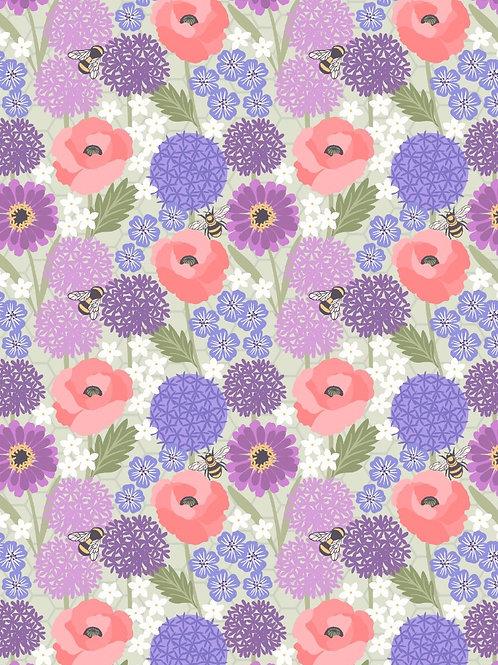 Lewis and Irene - 'Bee Kind' Allium & Poppies on Lt Sage