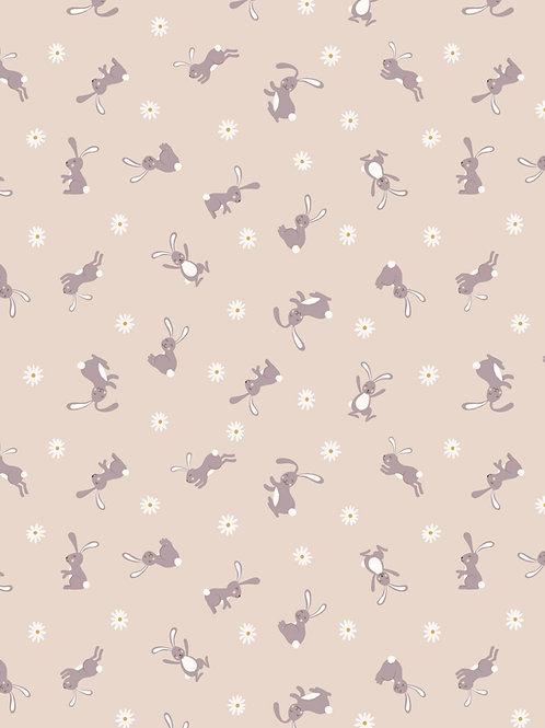 Bunny Hop - Bunny on dark Cream