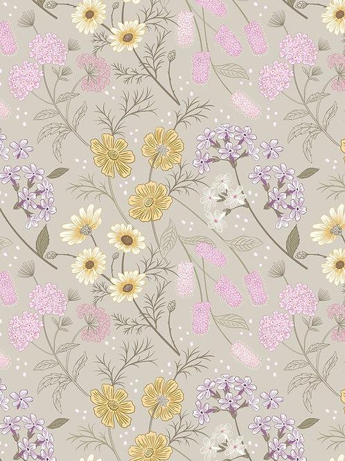 Lewis & Irene  - Botanic Garden - Garden Floral on Linen